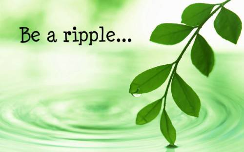 Be a ripple...