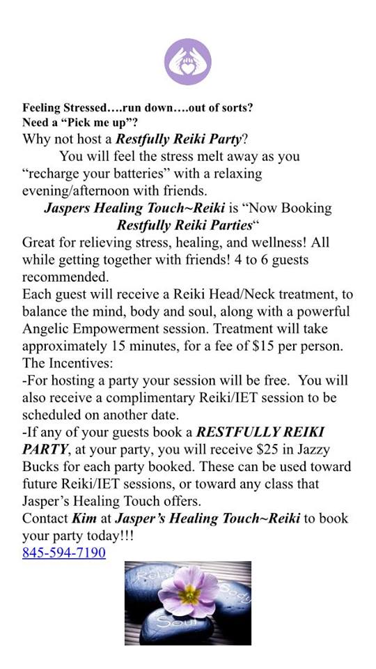 Restfully Reiki Flyer